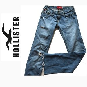 Hollister Distressed Size 0 Jeans Ankle Cropped